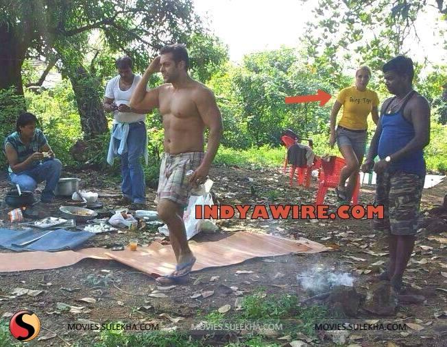 Salman Khan Sans Shirt At An Outdoor Picnic With Firangi Babes Pictures 6