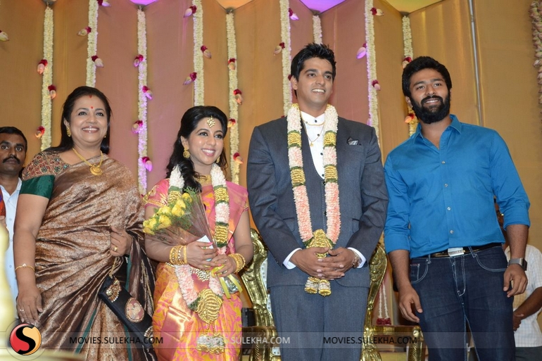 Santhanam Spotted At Palam Silks Daughter Marriage Reception Pictures 1