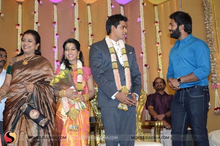 Santhanam Spotted At Palam Silks Daughter Marriage Reception Pictures 2